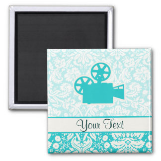 Teal Movie Camera Magnet