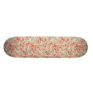 Teal Music Groovy Design Custom Skate Board