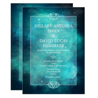 Teal Nebula and Chakra Wedding Invitation