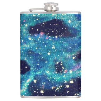 Teal Nebula Hip Flask