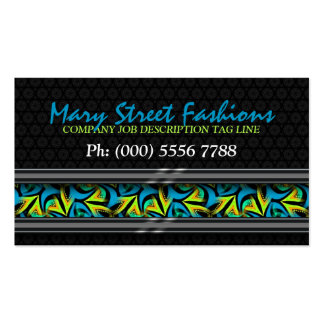 Teal+ Neon Graffiti Street on Black Business Cards