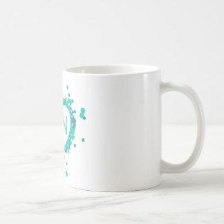 Teal Nurse RN Heart Mug