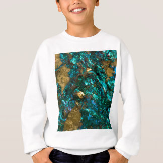 Teal Oil Slick and Gold Quartz Sweatshirt