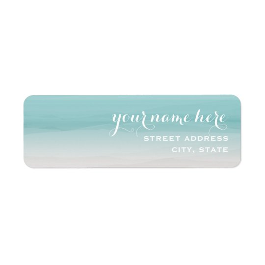 Teal Ombre Address Label