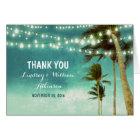 teal ombre beach wedding thank you cards