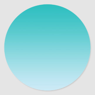 Teal Ombre Classic Round Sticker