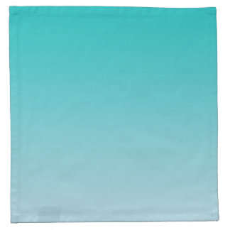 Teal Ombre Cloth Napkins