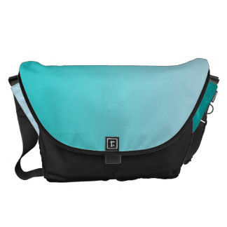 Teal Ombre Large Commuter Bag