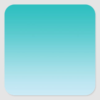 Teal Ombre Square Sticker