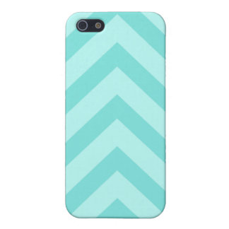 Teal or aqua chevron zigzag pattern iPhone case iPhone 5/5S Covers