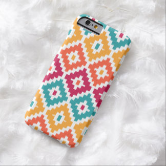 Teal Orange Aztec Tribal Print Ikat Diamond Pattrn Barely There iPhone 6 Case