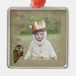 Teal Owl Photo Ornament