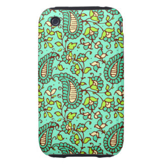 Teal Paisley iPhone 3G/3GS Case Mate Tough iPhone 3 Tough Covers