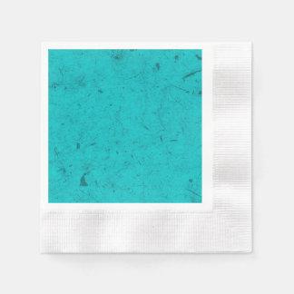 Teal Papyrus Disposable Serviette