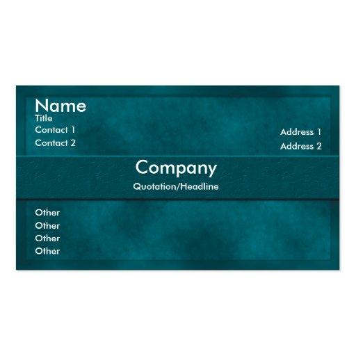 Teal Parchment Business Card