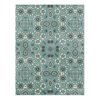 Teal Pattern Background Postcard