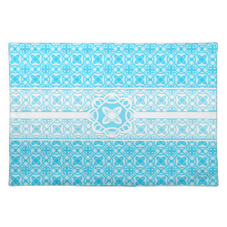 Teal Pattern Cloth Placemat
