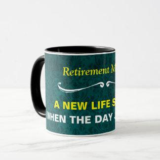 Teal Pattern Retirement Mantra Mug
