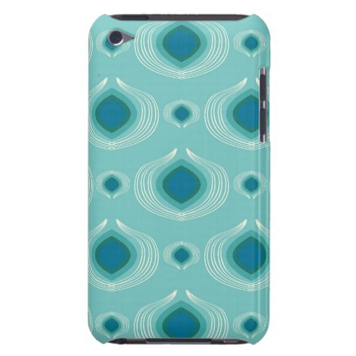 Teal Peacock iPod Touch Cover
