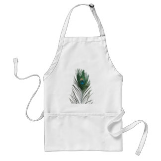 Teal Peacock Feather Standard Apron