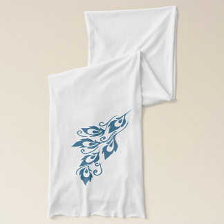 Teal Peacock Feathers Scarf