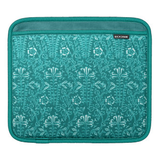 Teal Peacock Retro Classy Sassy Sissy Vintage Sleeves For iPads