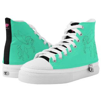 Teal pegasus shoes