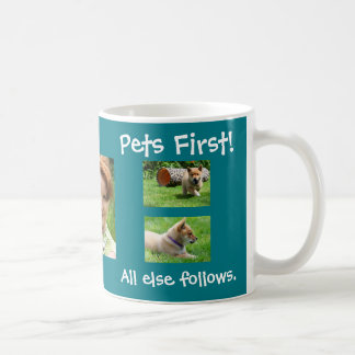 Teal Pets First 5 Customized Photos Coffee Mug
