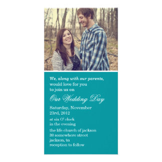 Teal Photo Cards Wedding Invites