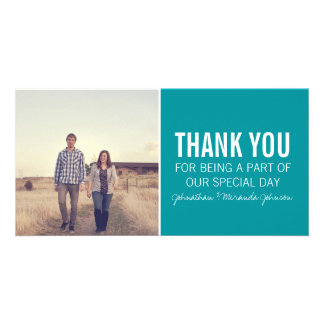 Teal Photo Thank You Cards Photo Cards