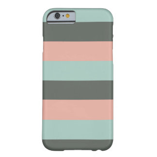 Teal Pink Gray Stripes Pattern Barely There iPhone 6 Case