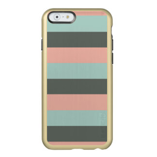 Teal Pink Gray Stripes Pattern Incipio Feather® Shine iPhone 6 Case