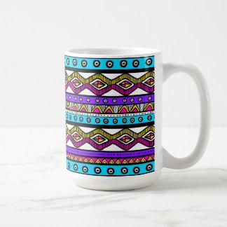 Teal Pink Purple Aztec Stylish Modern Coffee Mug