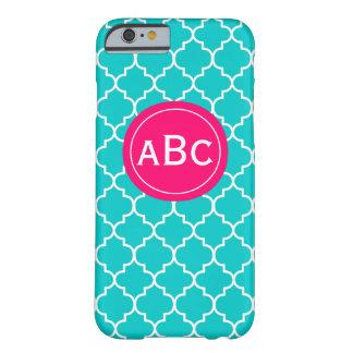 Teal Pink Quatrefoil Phone Case