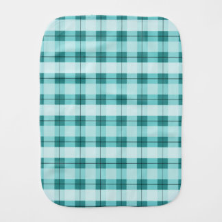 Teal Plaid 2.0 Burp Cloth