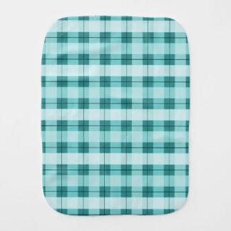 Teal Plaid 2.0 Burp Cloths