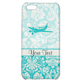 Teal Plane iPhone 5C Covers