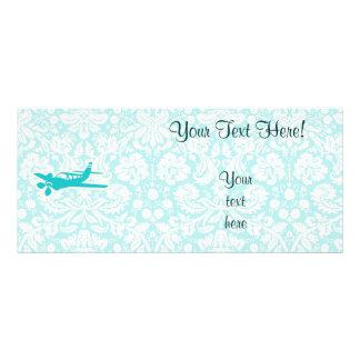 Teal Plane Custom Rack Cards