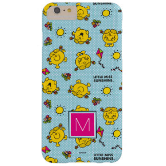 Teal Polka Dot Pattern | Monogram Barely There iPhone 6 Plus Case