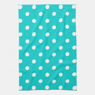 Teal Polka Dot Tea Towel