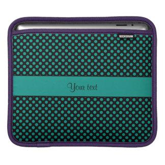 Teal Polka Dots iPad Sleeve