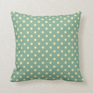 Teal polkadot pillow