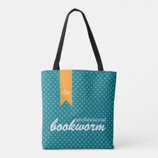 Teal Professional bookworm Bag Tote Bag