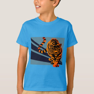 Teal Prowling Tiger T-shirt