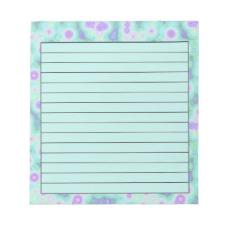 Teal psychedelic notepad