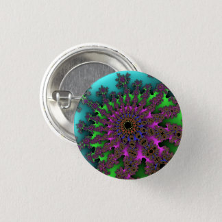 Teal Purple Burst Small Button
