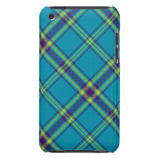 Teal/Purple/Lime Tartan Plaid iPod Case Barely There iPod Case