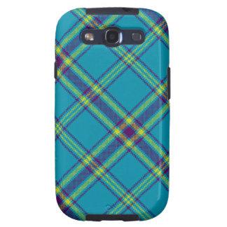 Teal/Purple/Lime Tartan Plaid Samsung Galaxy Case Galaxy S3 Cover