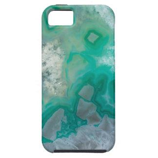 Teal Quartz Geode iPhone 5 Covers