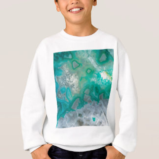 Teal Quartz Geode Sweatshirt